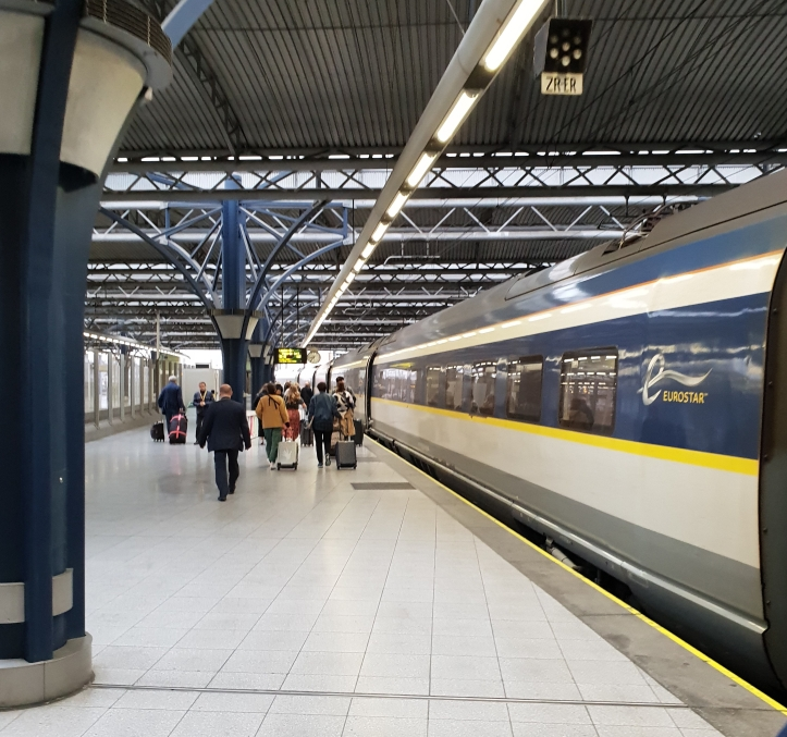 Boarding Eurostar in Brussels